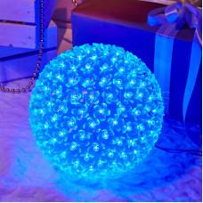 Шар светодиодный 220V, диаметр 20 см, 200 светодиодов, цвет синий
