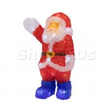 """Акриловая светодиодная фигура """"Санта Клаус приветствует"""" 30 см, 40 светодиодов, IP44 понижающий трансформатор в комплекте, NEON-NIGHT"""
